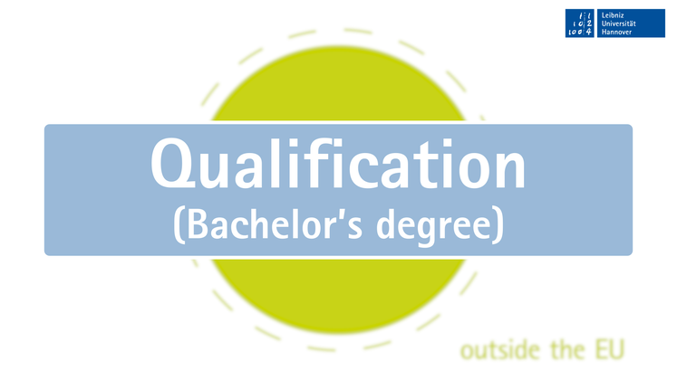Bachelor application - for prospective students from outside